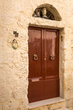 Details of the silent streets of the old town Mdina Stock Images