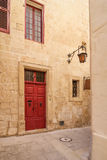 Details of the silent streets of the old town Mdina Royalty Free Stock Image
