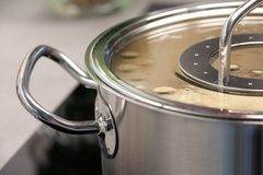 Details of a cooking pot royalty free stock image