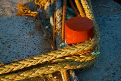 Details in the Skala du Port in Essaouira. Morocco Stock Photography
