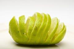 Details of sliced lime Stock Image