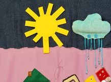 Details of soft creative mat for development of child Stock Image