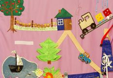 Details of soft creative mat for development of child Royalty Free Stock Images