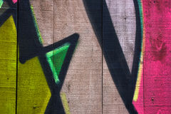 Details of Some Graffiti on A Wooden Wall Royalty Free Stock Images