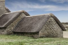 Details of some old fishermans house in Brittany, France coastli. Ne, Manaham royalty free stock images