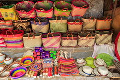 Details of a souvenir shop in Africa. Madagascar Royalty Free Stock Images