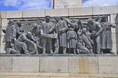Details of Soviet Army monument Stock Photos