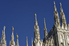 Details of the spires of Milan cathedral Stock Image