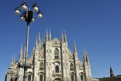 Details of the spires of Milan cathedral Stock Images