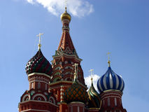 Details of St. Basil Cathedral. The cathedral was built between 1555 and 1561 by the architects Barma and Postnik Yakoviev stock images