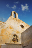 Details of St. Jacob church in Pyrgos village, Santorini Royalty Free Stock Photography