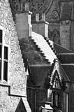 Houses detail. Details of St. Marys Cathedral in Edinburgh stock images