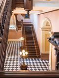 Grand staircase, California State Capitol Stock Photo