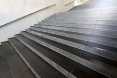 Details of stairs. Close up and details of stairs of a modern building Royalty Free Stock Image