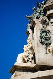Details Statue Christopher Columbus city Barcelona Stock Photography