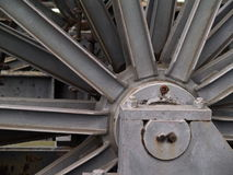 Details of steel construction at high furnace Royalty Free Stock Photo