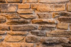 Details steen de ruwe van achtergrondtextuur donkere bakstenen Stock Foto