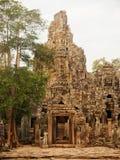 Details of stone carvings at Bayon Temple , Angkor Wat, Cambodia Stock Image