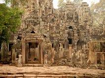 Details of stone carvings at Bayon Temple , Angkor Wat, Cambodia Royalty Free Stock Image