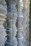 Details of stone window finishing at Angkor Wat  temple Stock Photography