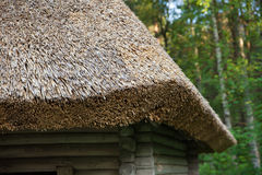 Details of a straw roof Royalty Free Stock Images