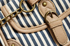 Details of striped bags Royalty Free Stock Images