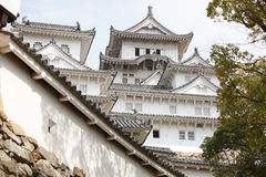 Details of Structure of the Japan Castle. Details of Structure of the Himeji Castle in Japan Royalty Free Stock Image