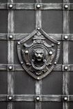 Details, structure and ornaments of forged iron gate. Decorative Stock Image