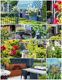 Details of summer dutch gardens, collage Royalty Free Stock Photography