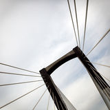 Details of suspension bridge Royalty Free Stock Photo