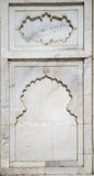 Details of Taj Mahal architecture on white marble background Stock Photography