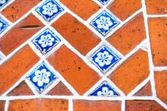 Puebla,  Mexico Tile. Details of a Talavera Mexico style tyle from Puebla,  Mexico Stock Photography