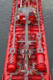 Details of a tanker. On Kiel Canal Royalty Free Stock Images