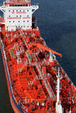 Details of a tanker. With crane Stock Images