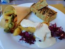 Diet veggie plate details stock photography