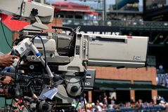 Details of television camera Stock Photos
