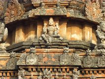 Details temple in Hampi. Indian god - temple details in Hampi, India stock photo