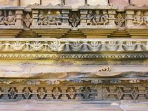 Details temple in Khajuraho Stock Photo