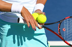 Details of Tennis player equipment Stock Image