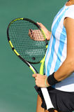 Details of Tennis player equipment Stock Photo