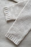 Details, texture, pattern knitted things stock image