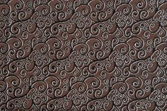 Brown colored patterned fabric texture. Details of the texture and weaving of brown fabric stock photography