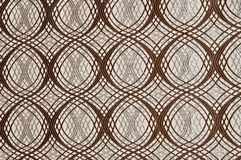 Brown colored patterned fabric texture stock photo