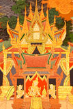 Details of Thai traditional style church painting. Stock Photo