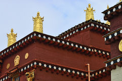 Details of tibetan temple Stock Photos