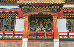 Details of Tibetan temple in Agra, India Royalty Free Stock Photography