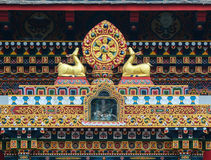 Details of Tibetan temple in Agra, India Royalty Free Stock Image