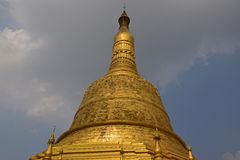 Details of Top Tip of Main giant stupa of Shwemawdaw Pagoda Stock Photo