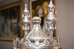 Details of the Torah scroll cover Royalty Free Stock Images