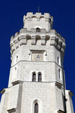 Details of tower castle at Hluboka nad Vltavou town Royalty Free Stock Photography